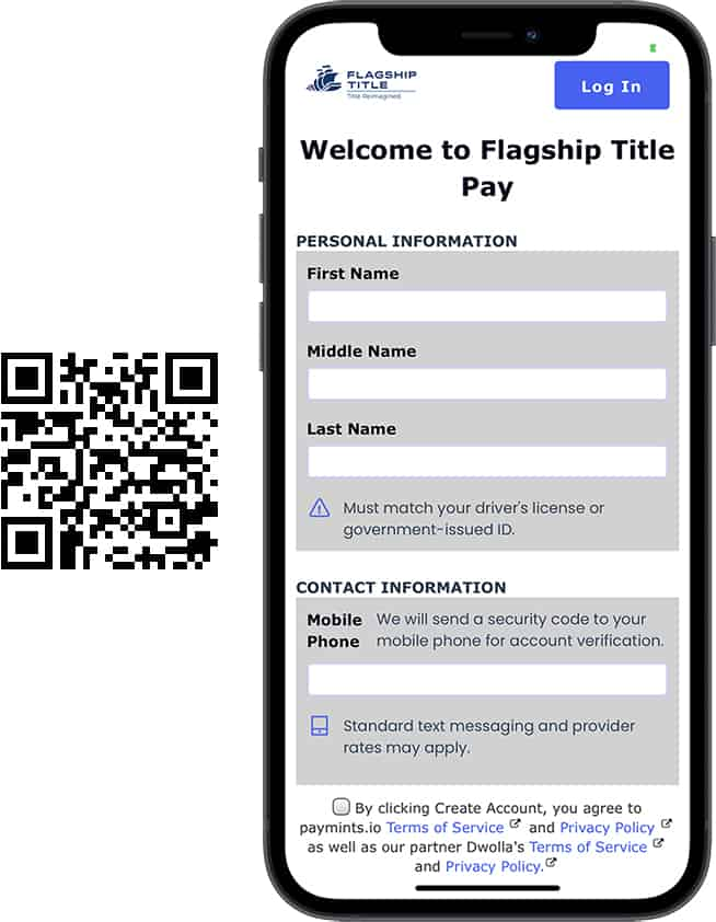 Mobile Screenshot with QR Code